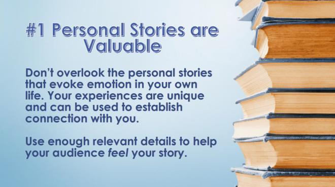 Storytelling Tip #1